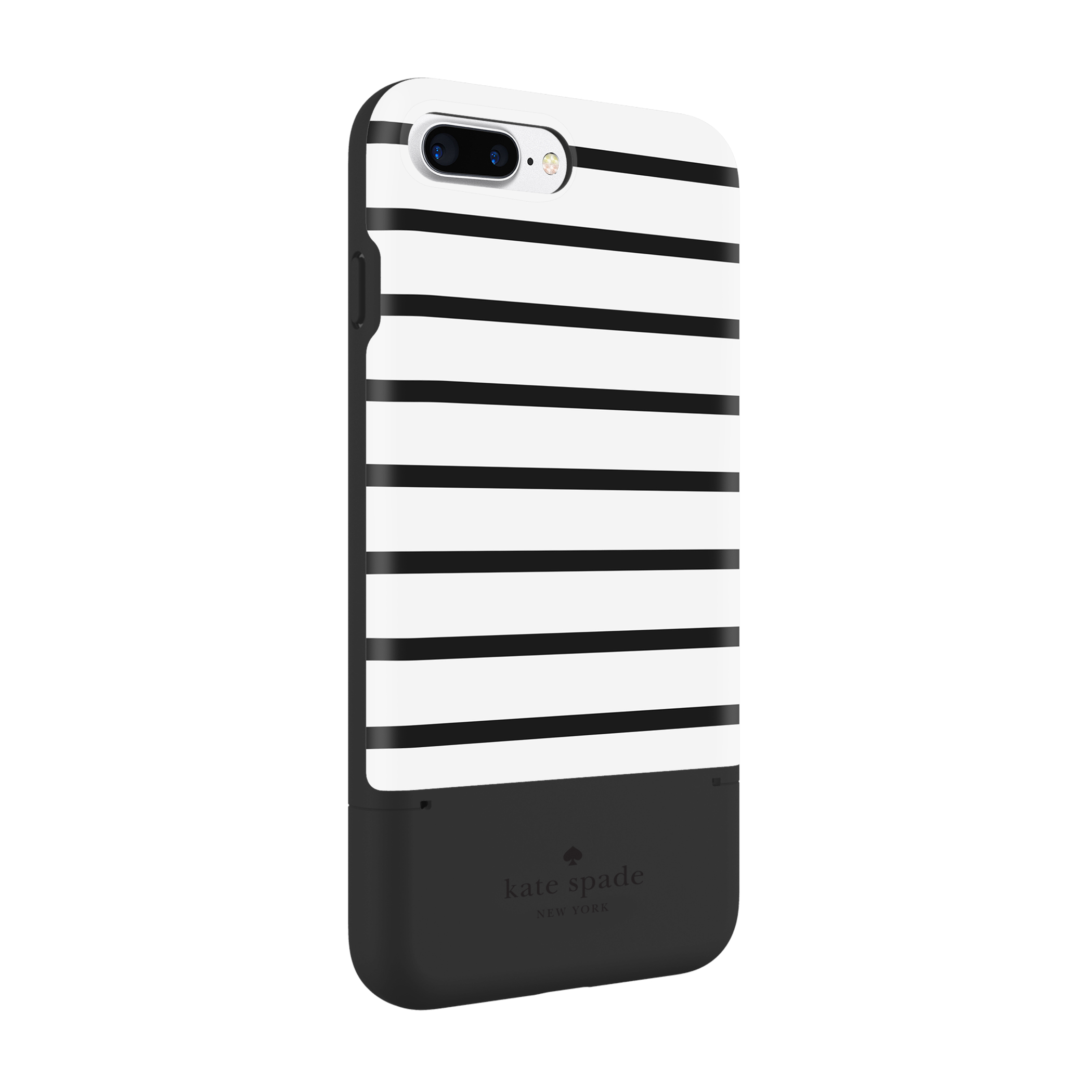 new product 35970 e06fb Kate Spade New York Credit Card Case for iPhone 7 Plus - Surprise Stripe  Black/White